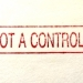 """Roter Stempelabdruck """"This is not a controlled copy"""""""