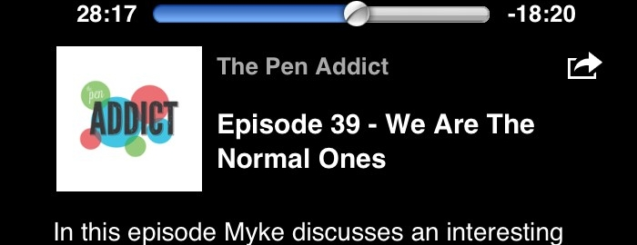 "Screenshot vom Penaddict-Podcastbild mit dem Titel ""We are the normals"""