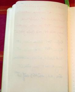 Rückseite der beschriebenen Leuchtturm-Notizbuch-Seite