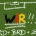 """Grafik: Auf grünem Hintergrund Kreidestriche, die ein 1/2 Fussbalfeld darstellen, darauf mit Kreide der Text """"ARD + BRD + ZDF = WIR!!!"""