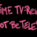 "Rote Kreideschrift auf schwarzem Grund ""THIS TIME TV-REVOLUTION WILL NOT BE TELEVISED """