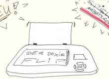 Eine Zeichnung des Doxie Flip, gescant natürlich mit dem Flip