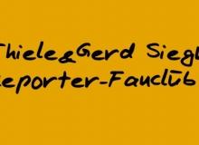 """Handgeschrieben: """"Dirk Thiele & Gerd Siegmund""""-Reporter-Fanclub"""