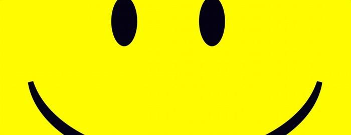 Ausschnitt eines gelben Smileys